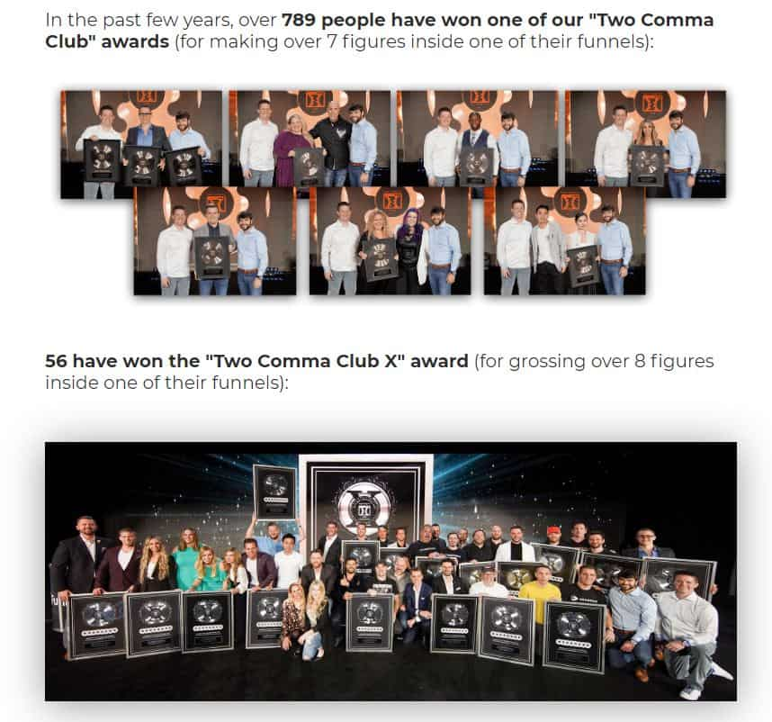 Two Comma Club Awards