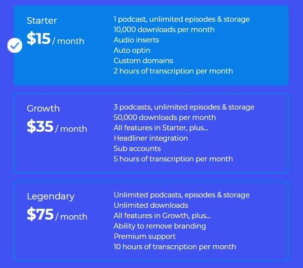 bCast pricing