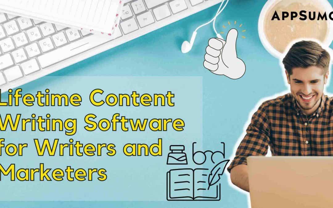 Lifetime Content Writing Software Header